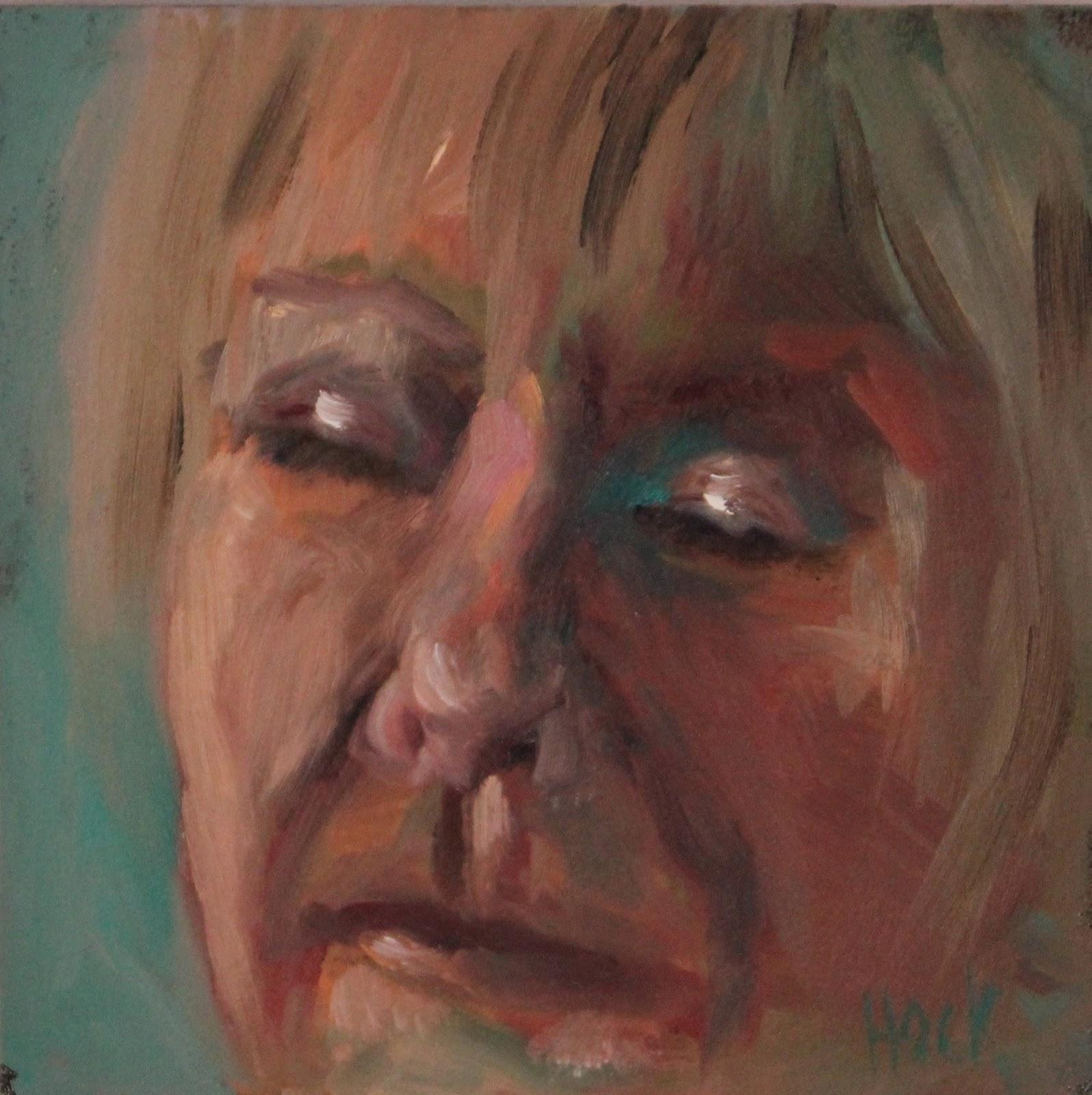 """Six at Sixty Portraits"" original fine art by Maria Bennett Hock"