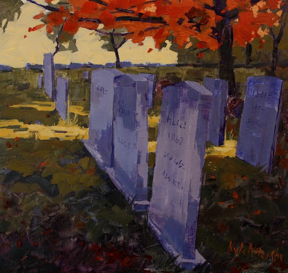 """Harvard Cemetery"" original fine art by Kyle Nitzsche"