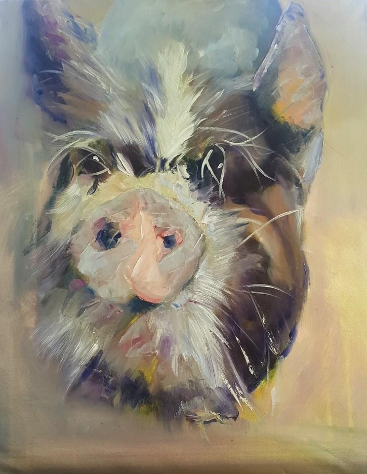 """""""Ot ot"""" original fine art by Rentia Coetzee"""
