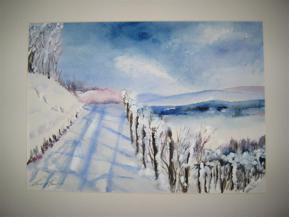 """Winter Highway"" original fine art by Susan Brens"