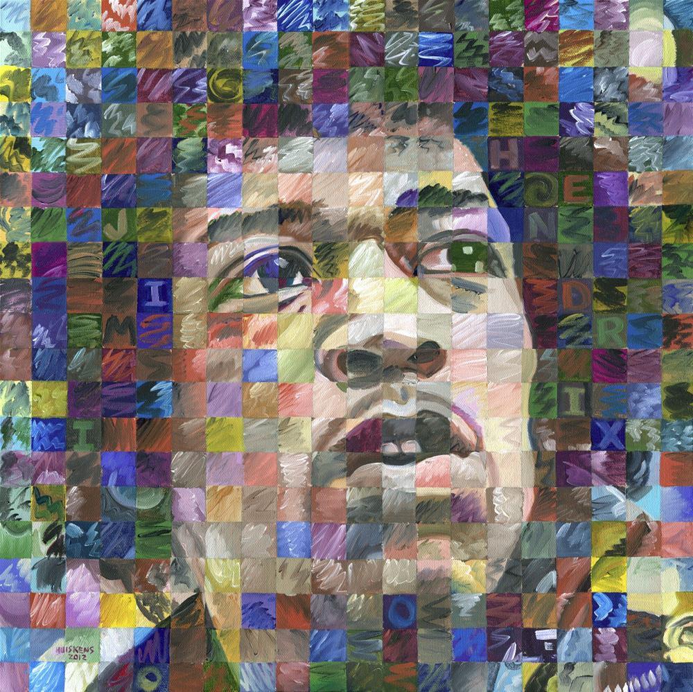 """""""Jimi Hendrix"""" original fine art by Randal Huiskens"""