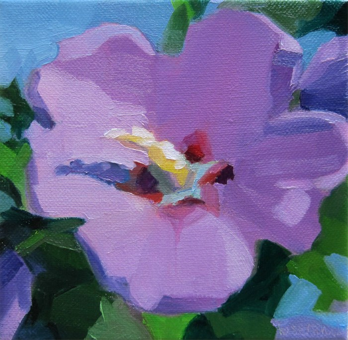 """Rose of Sharon 2015"" original fine art by Robin Rosenthal"