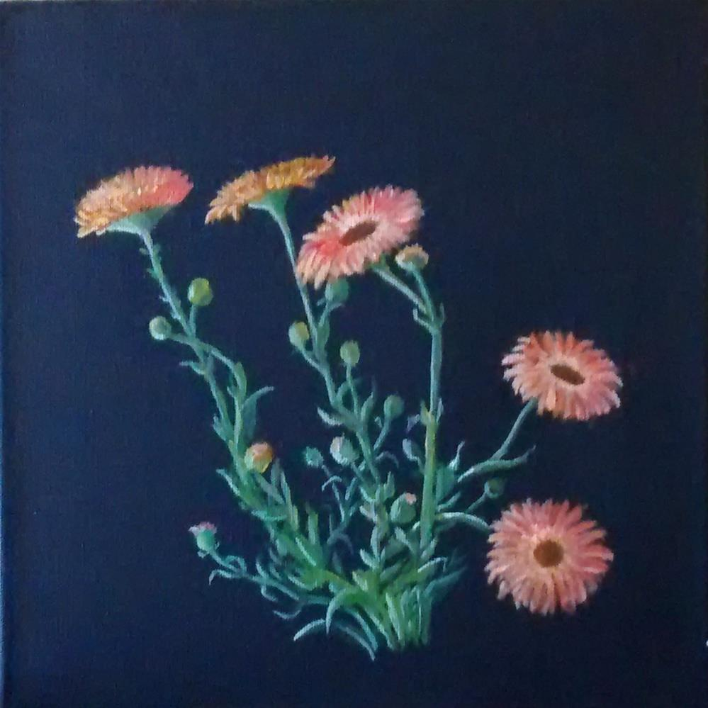 """orange flowers"" original fine art by Pratima Patel"