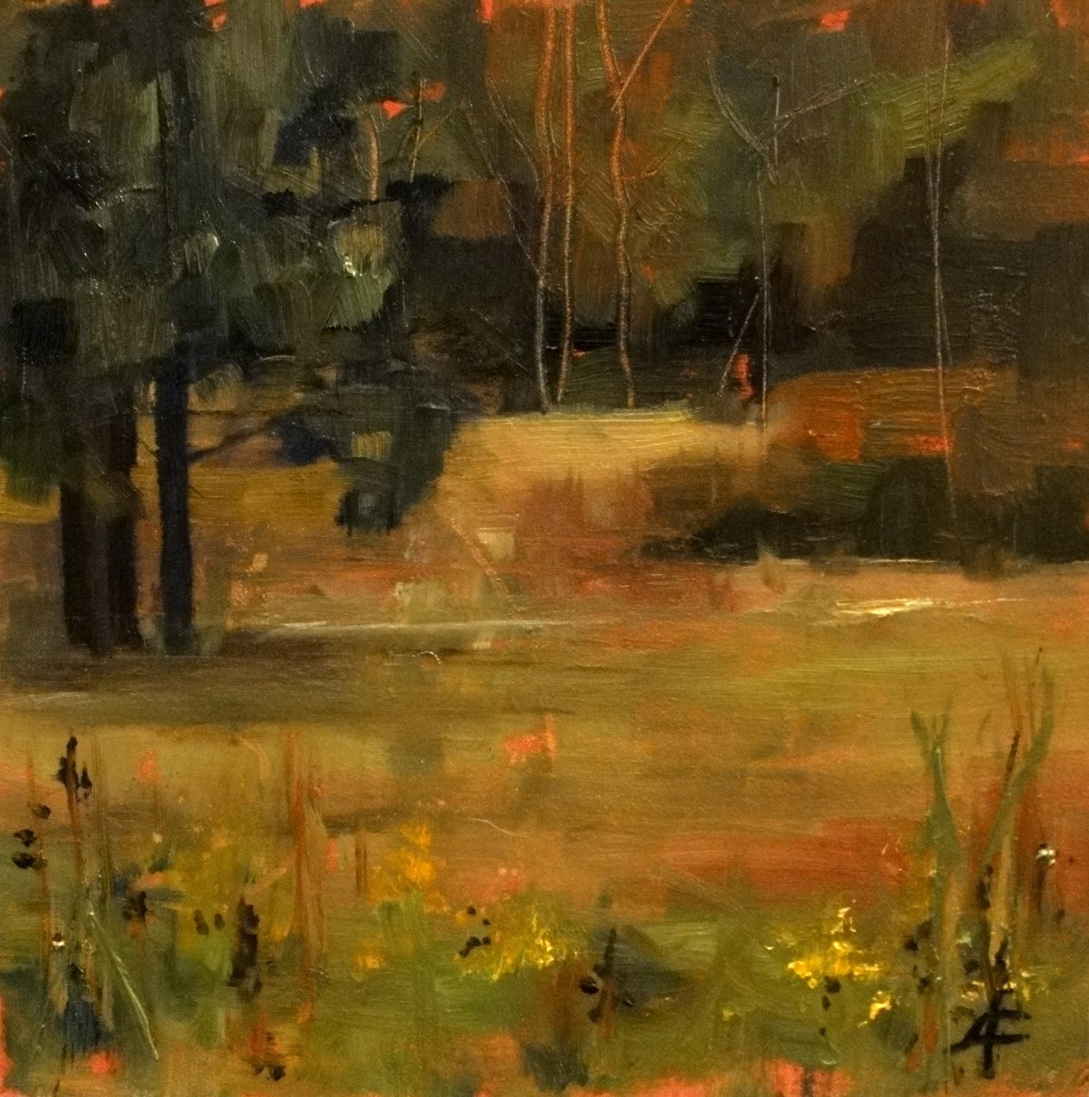 """""""Edge of the Prairie, 8x8"""" original fine art by Ann Feldman"""