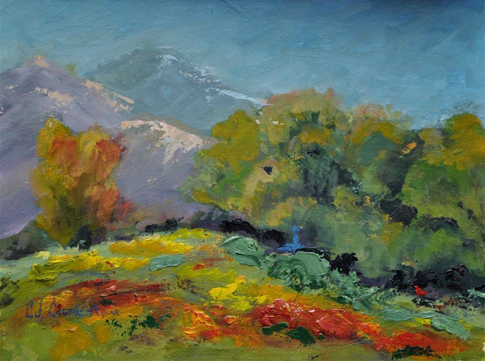 """Wild Sunflowers"" original fine art by Catherine Crookston"