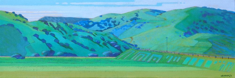 """""""Los Vaqueros Spring"""" original fine art by Nancy Roberts"""