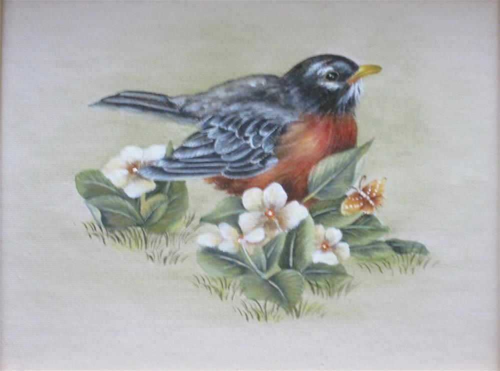 """American Robin"" original fine art by Barbara Wagner"