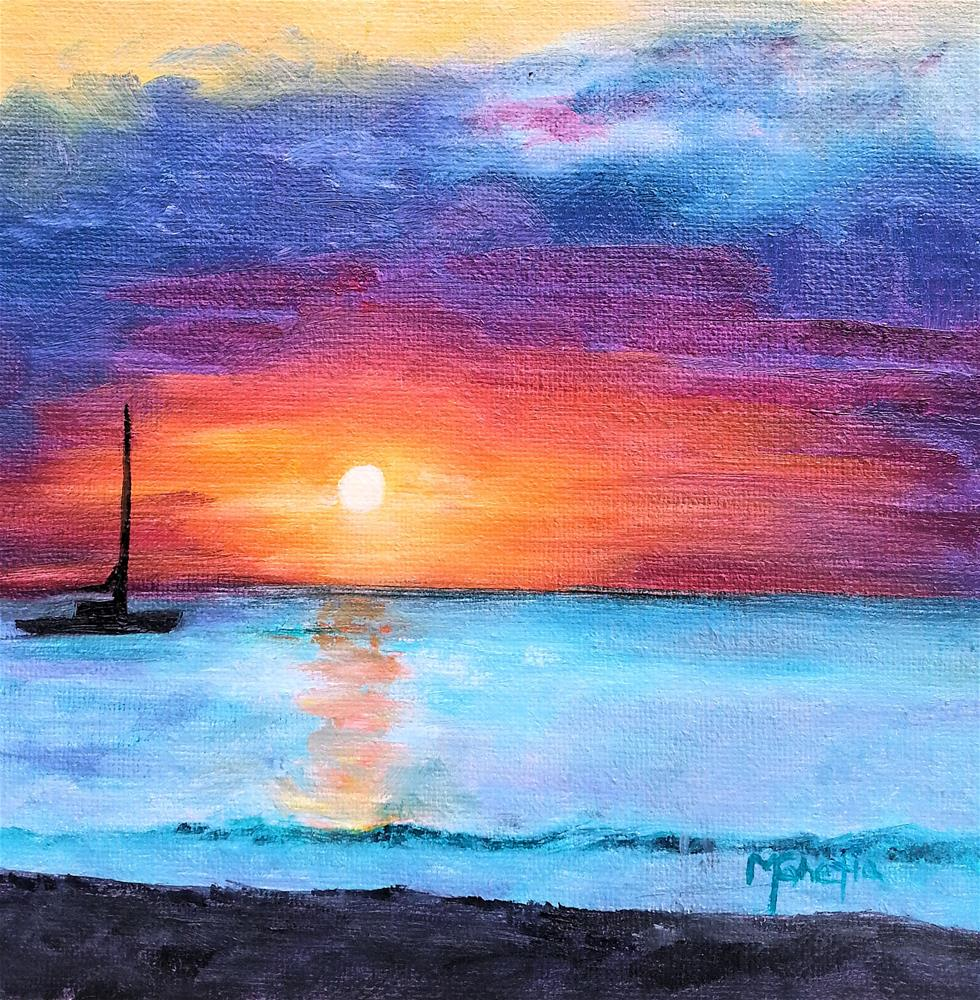 """Negril Sunset"" original fine art by Maureen Ghetia"
