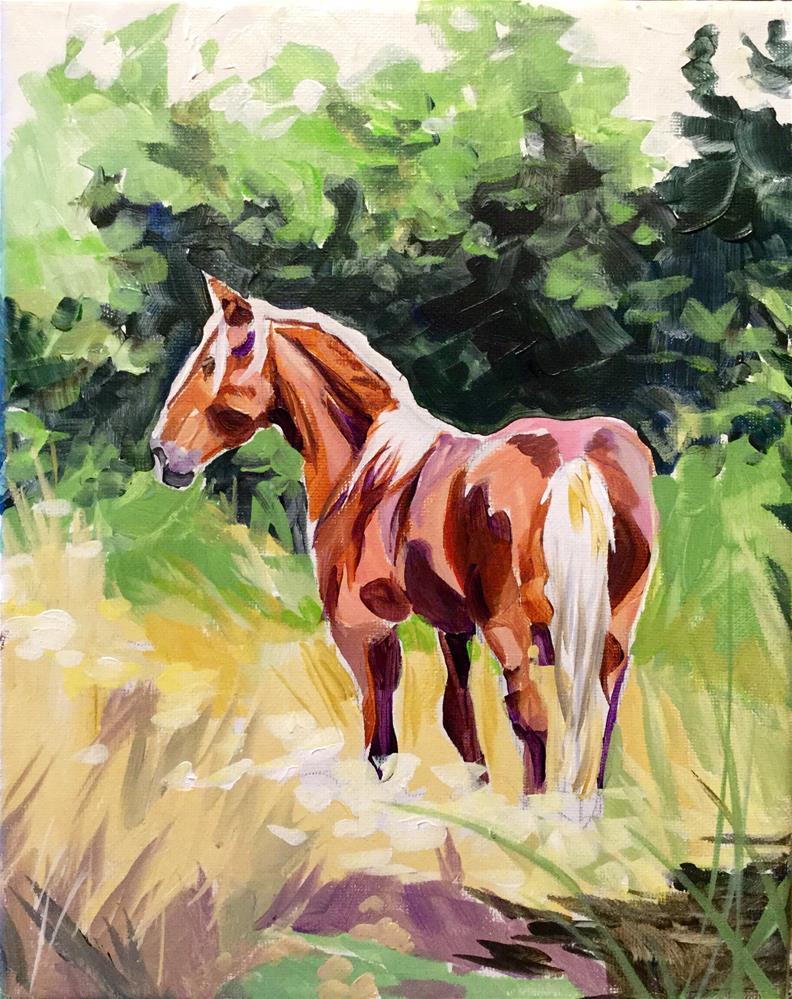 """""""Wild Corolla Mare"""" original fine art by Lauren Kuhn"""
