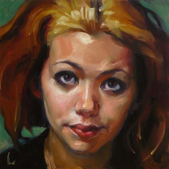 """Brassy"" original fine art by John Larriva"