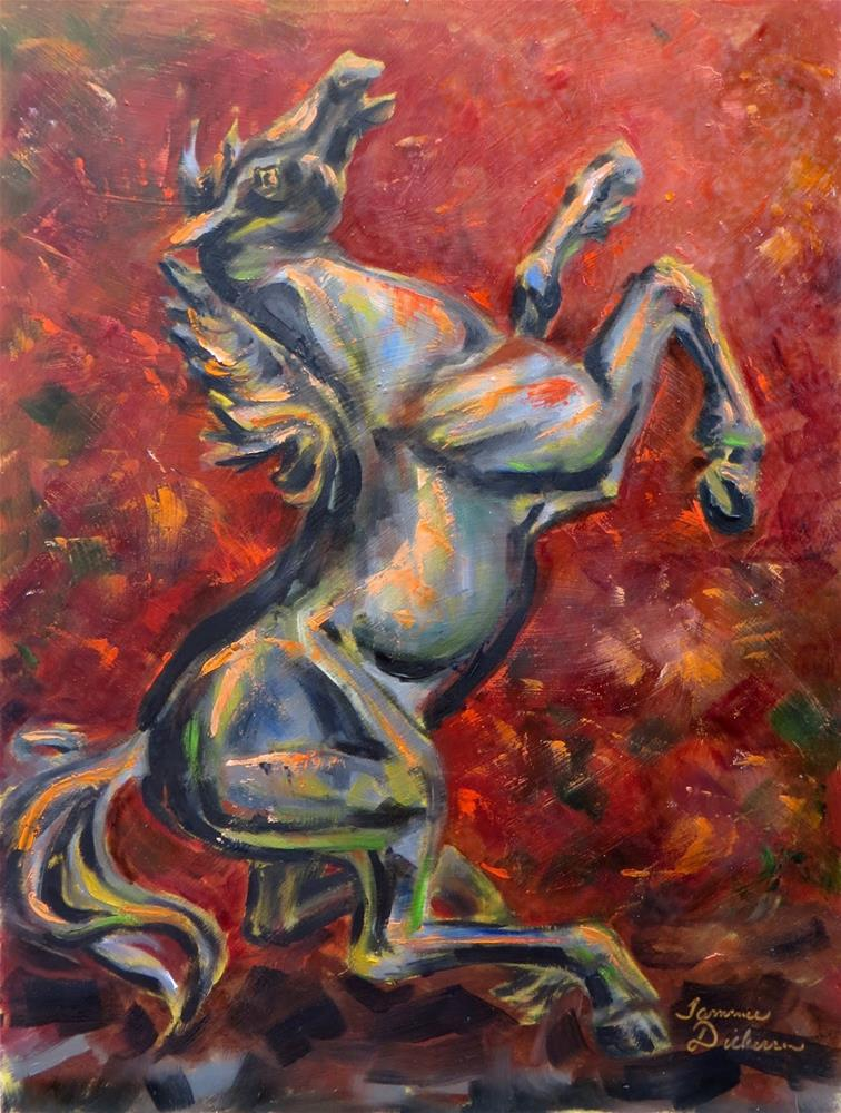 """Rearing Stallion"" original fine art by Tammie Dickerson"