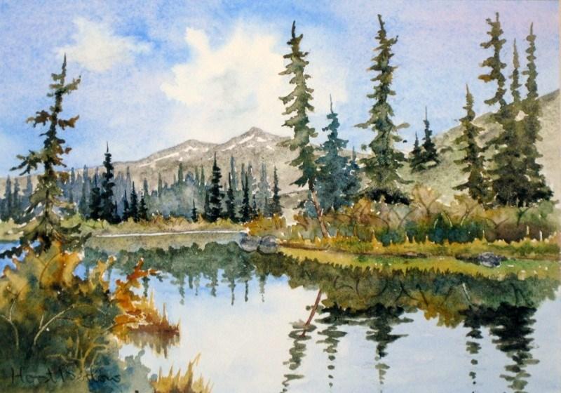 """Little Lapie Lake"" original fine art by Horst Berlow"