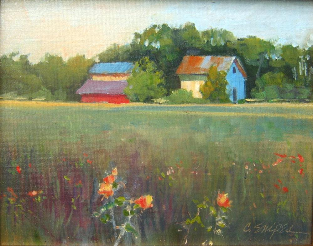 """Farm in May"" original fine art by Connie Snipes"