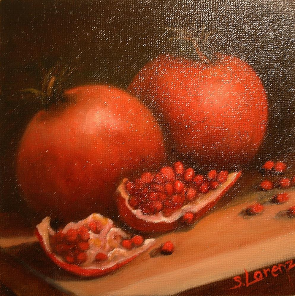 """Pomegranate Duet"" original fine art by Sue Lorenz"