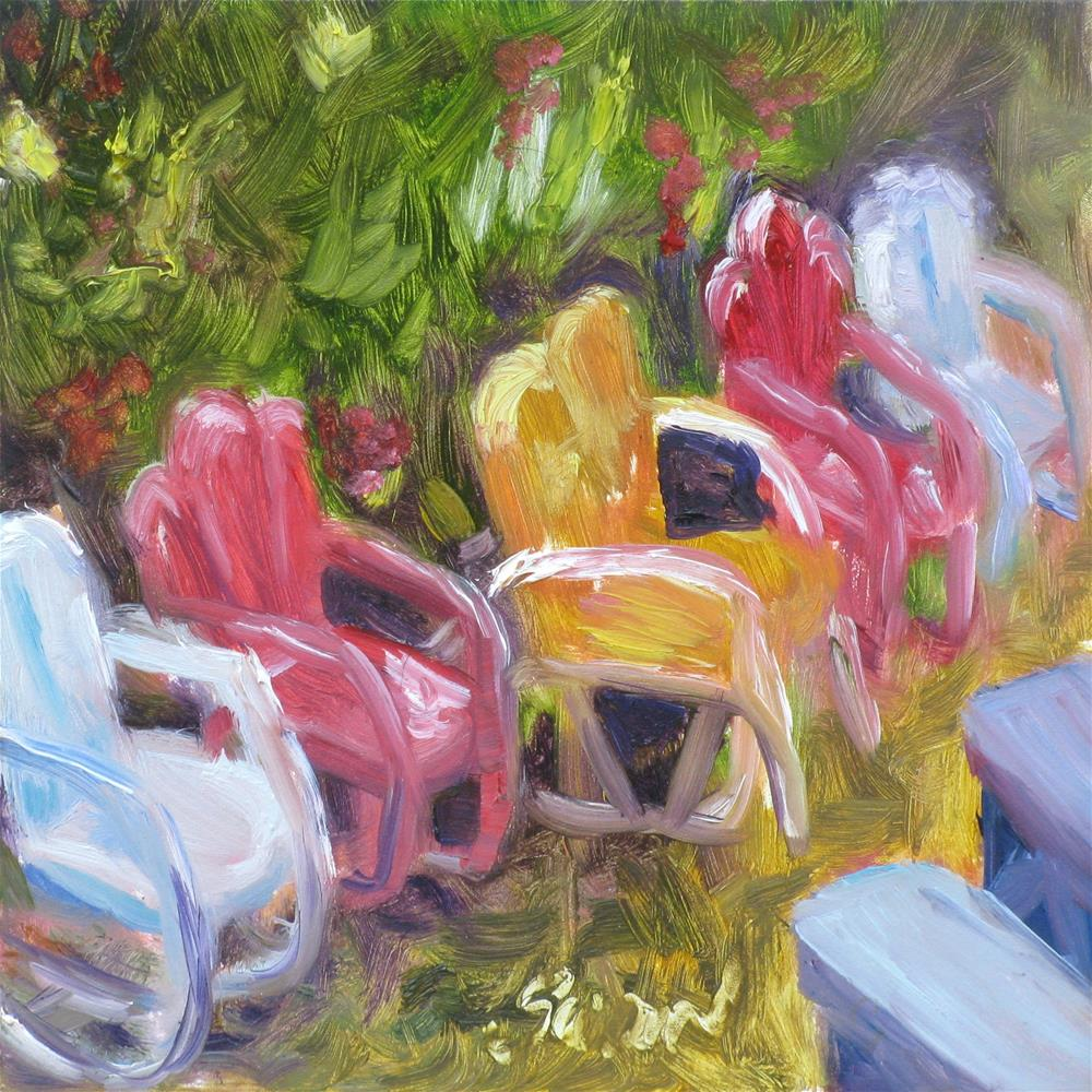 """The Garden Party"" original fine art by Susan Elizabeth Jones"
