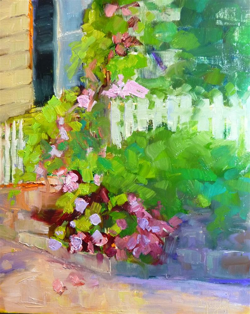 """Corner of Fauqier and Charles"" original fine art by Carol Josefiak"