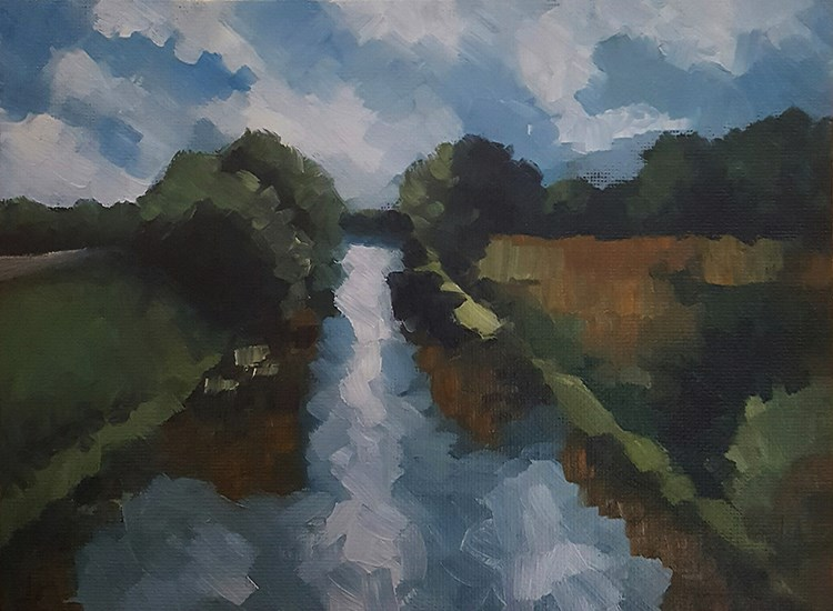 """The Hobhole Drain"" original fine art by J M Needham"