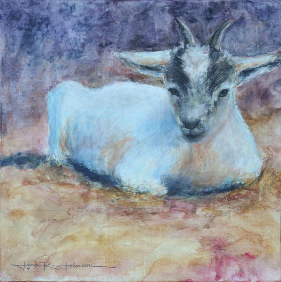 """Peaches The Goat"" original fine art by Jana Johnson"