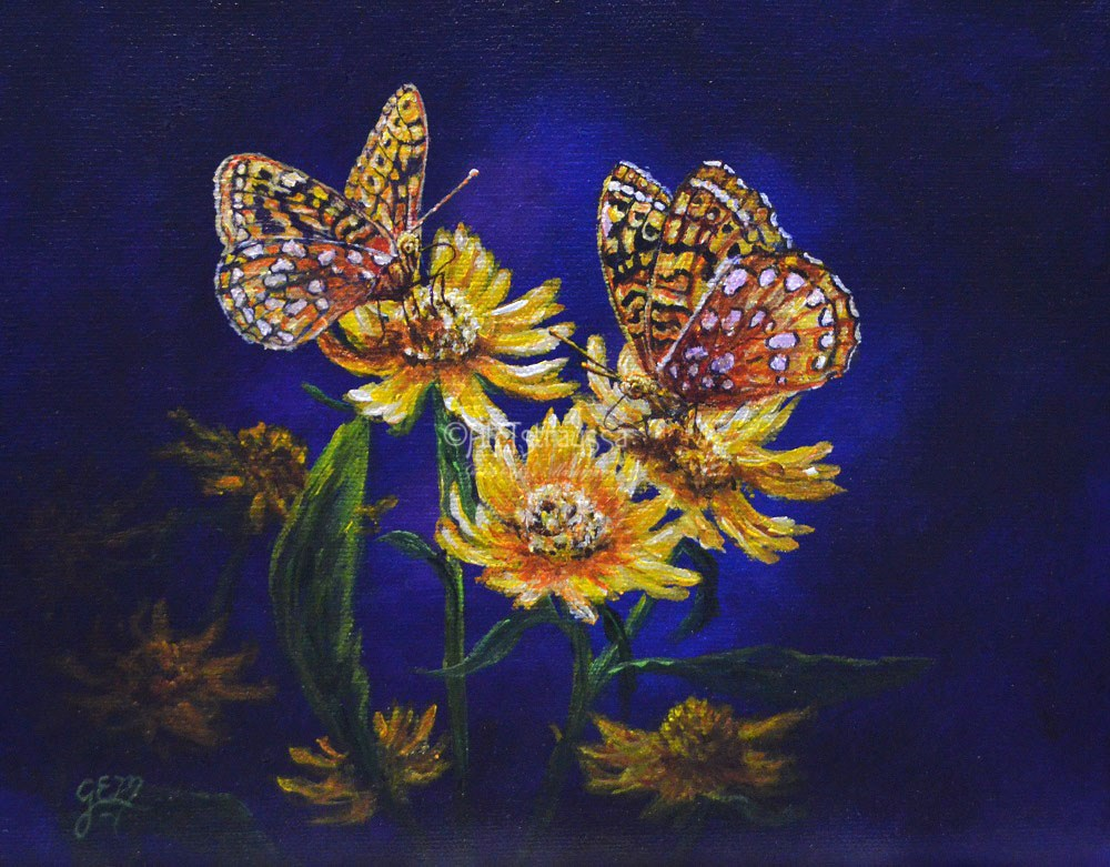 """Fritillary Dreams"" original fine art by Gloria Ester"