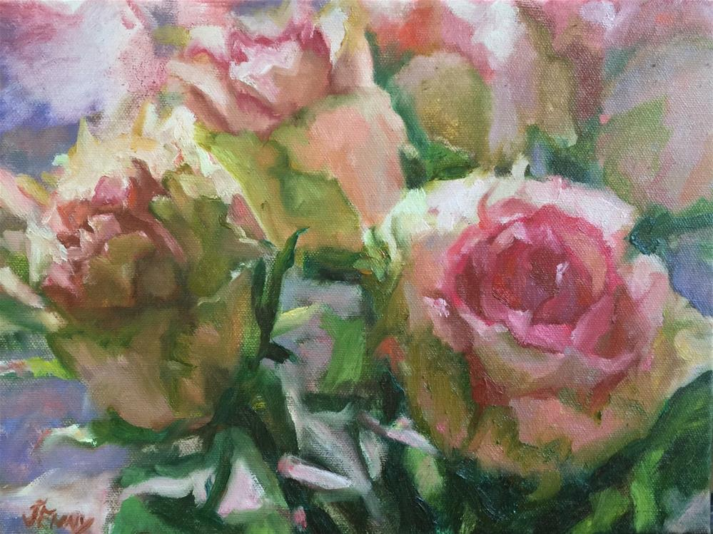 """Lil roses painting"" original fine art by Jenny Buckner"