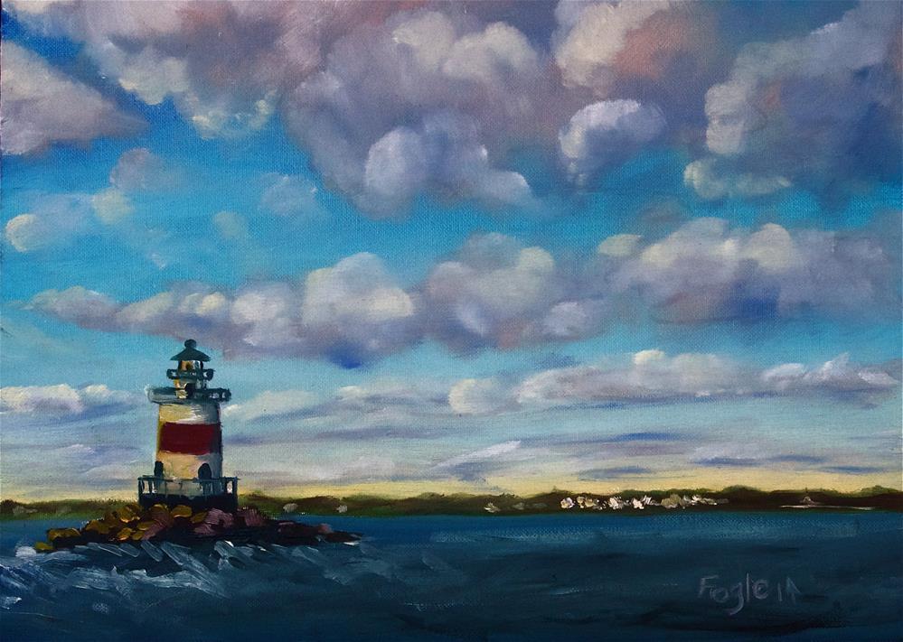 """Late Afternoon at Latimer's Reef I"" original fine art by Rachel Fogle"