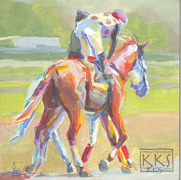 """Tandem"" original fine art by Kimberly Santini"