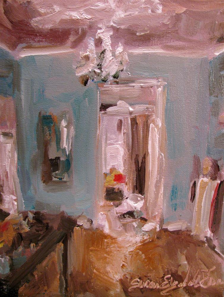 """Study of Carlos San Millan painting of his studio"" original fine art by Susan Elizabeth Jones"