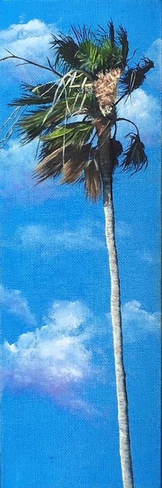 """Tradewinds Palm #1"" original fine art by Wendi Vann Johnson"