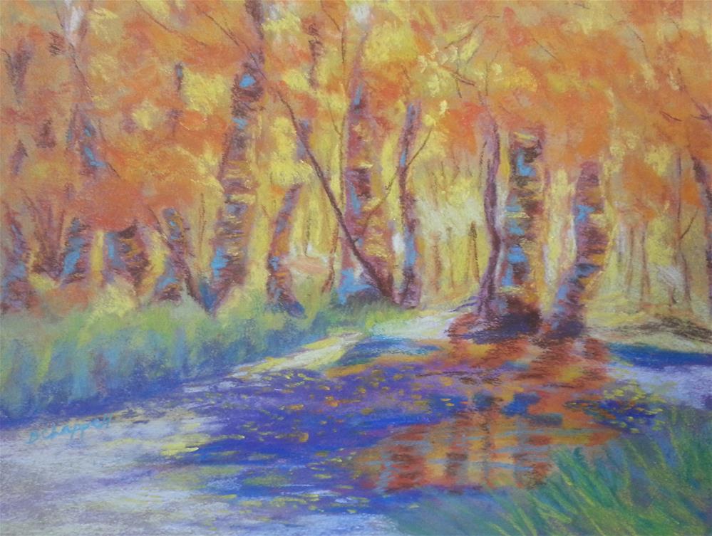 """""""Brush Creek 14"""" original fine art by Becky Chappell"""