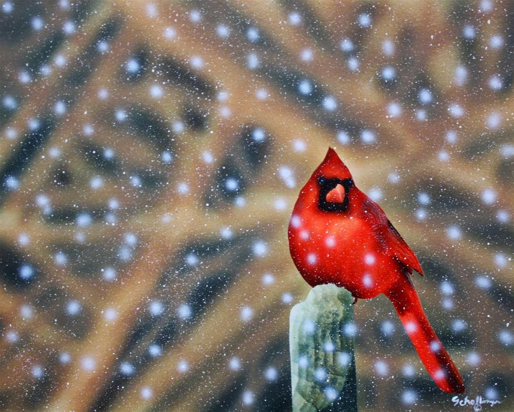 """Chilly Roost"" original fine art by Fred Schollmeyer"