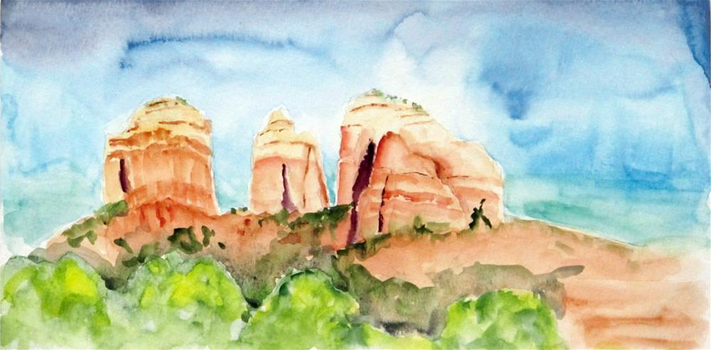 """Cathedral Rocks, Sedona"" original fine art by  David Beale"