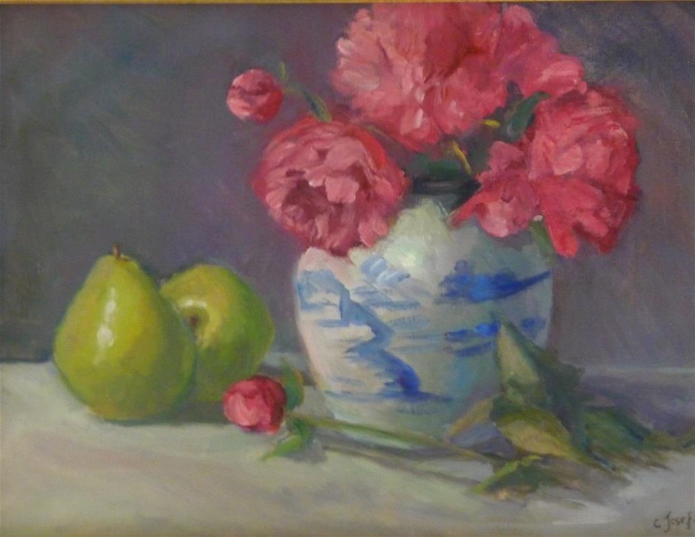 """Peonies 2008"" original fine art by Carol Josefiak"