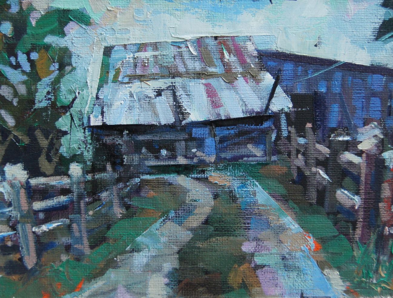"""Down the Lane"" original fine art by Brian Buckrell"