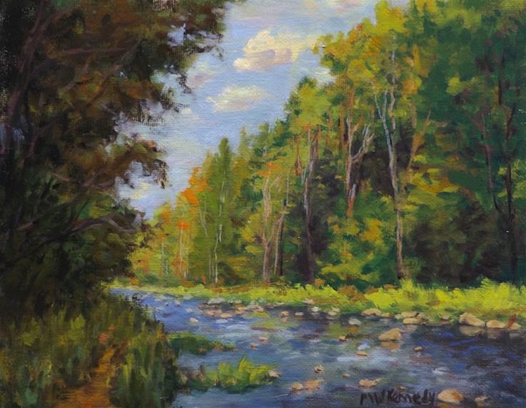 """Souhegan River"" original fine art by Michael Kennedy"