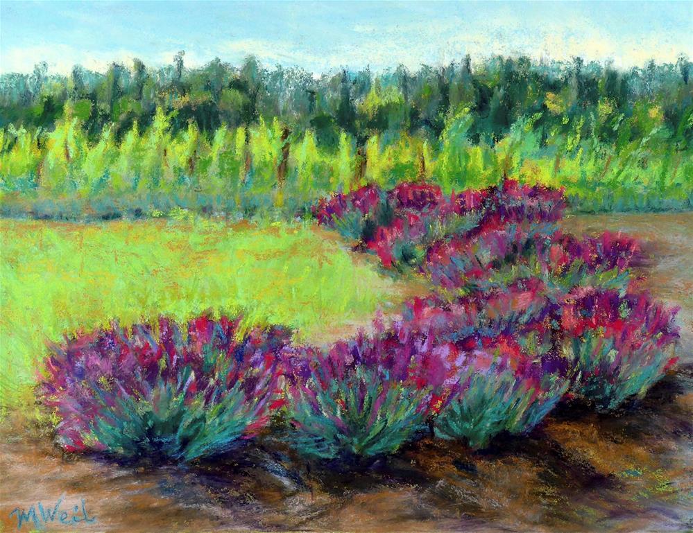 """My Lavender"" original fine art by Mary Weil"