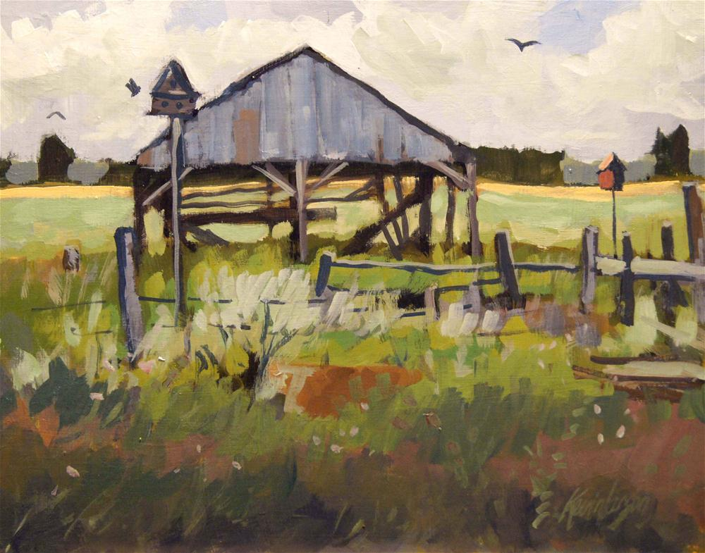 """The Haybarn"" original fine art by Kevin Larson"