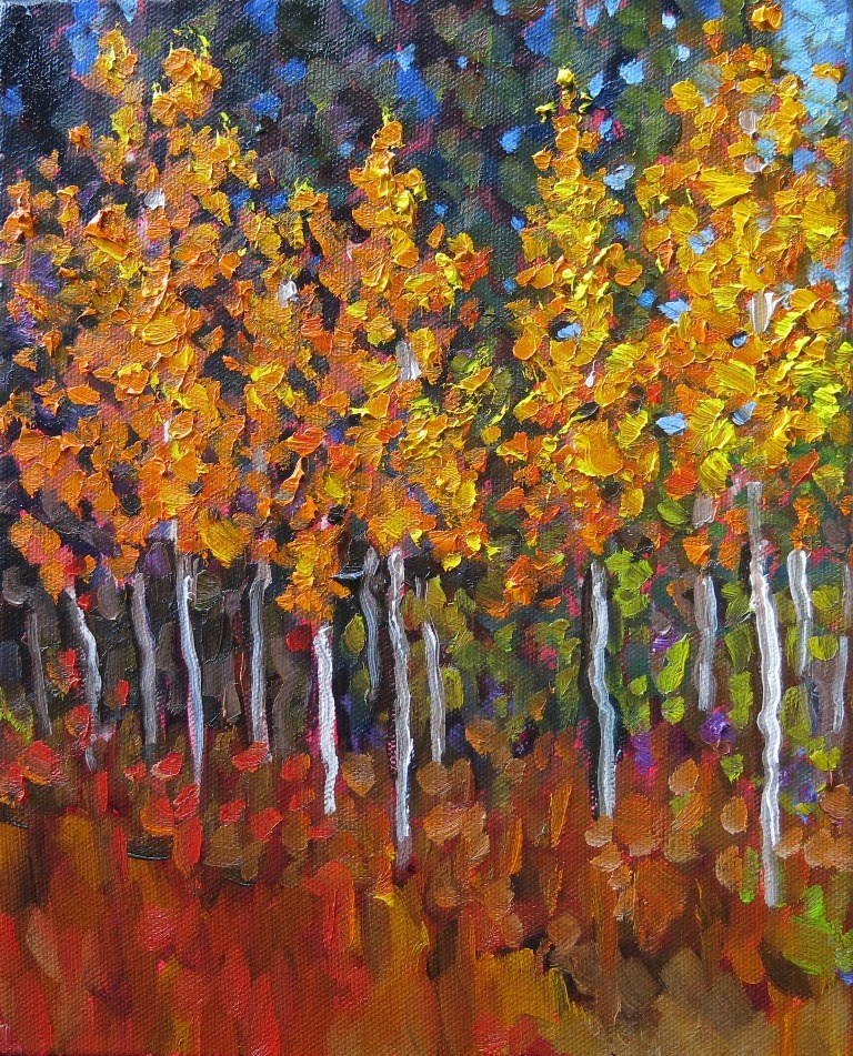 """#50 ASPEN GLADE"" original fine art by Dee Sanchez"