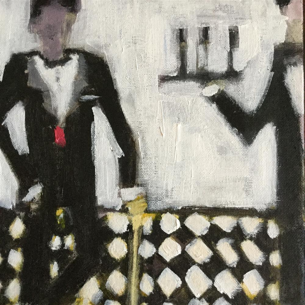 """Dinner for one please James..Madame will not be dining"" original fine art by pamela kish"