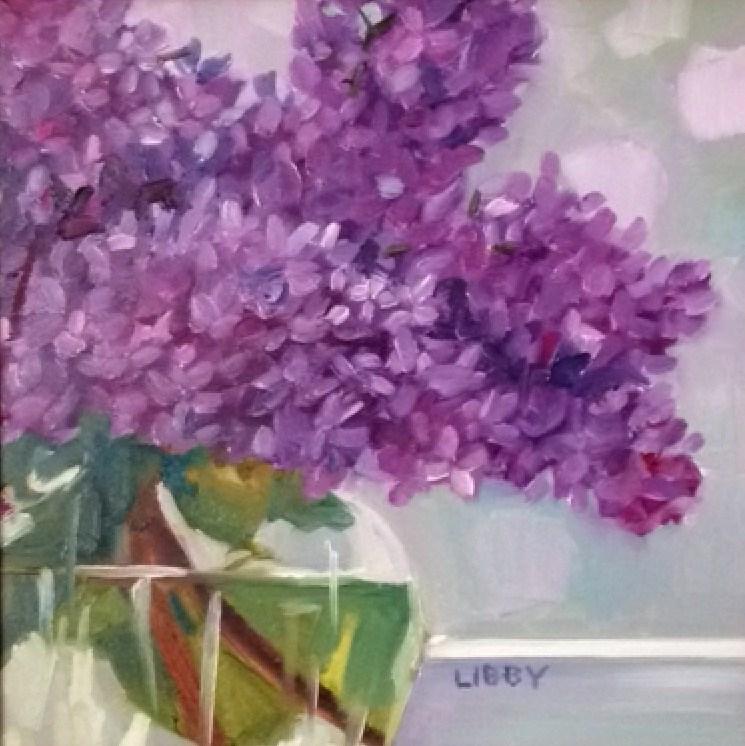 """Love Lilacs"" original fine art by Libby Anderson"