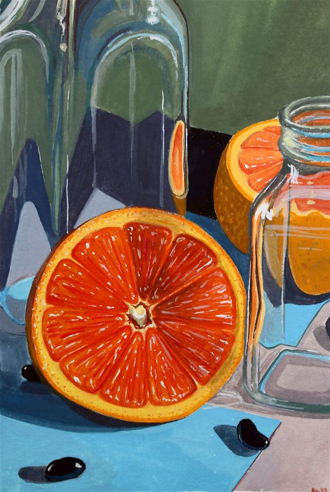 """Oranges and Jelly Beans"" original fine art by Brandy Woodford"