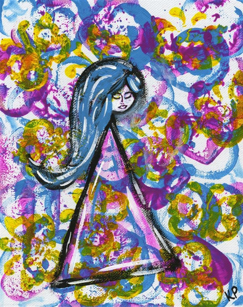 """""""Like a Little Girl"""" original fine art by Kali Parsons"""