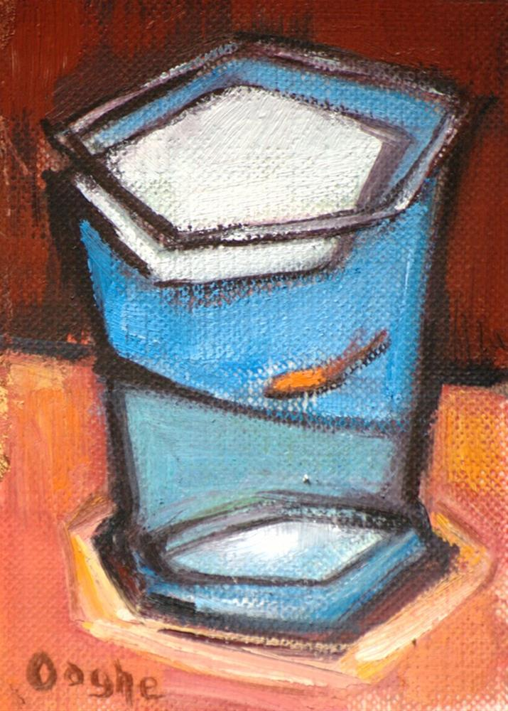"""One Goldfish ACEO"" original fine art by Angela Ooghe"