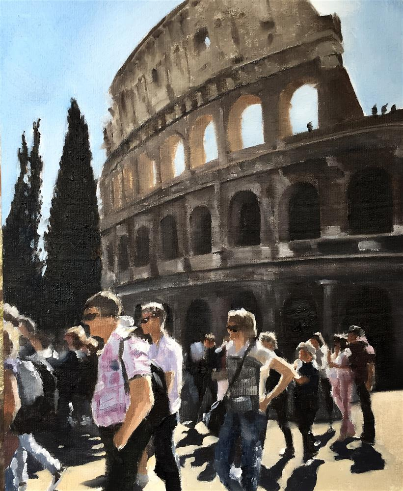 """Colluseum Study"" original fine art by James Coates"