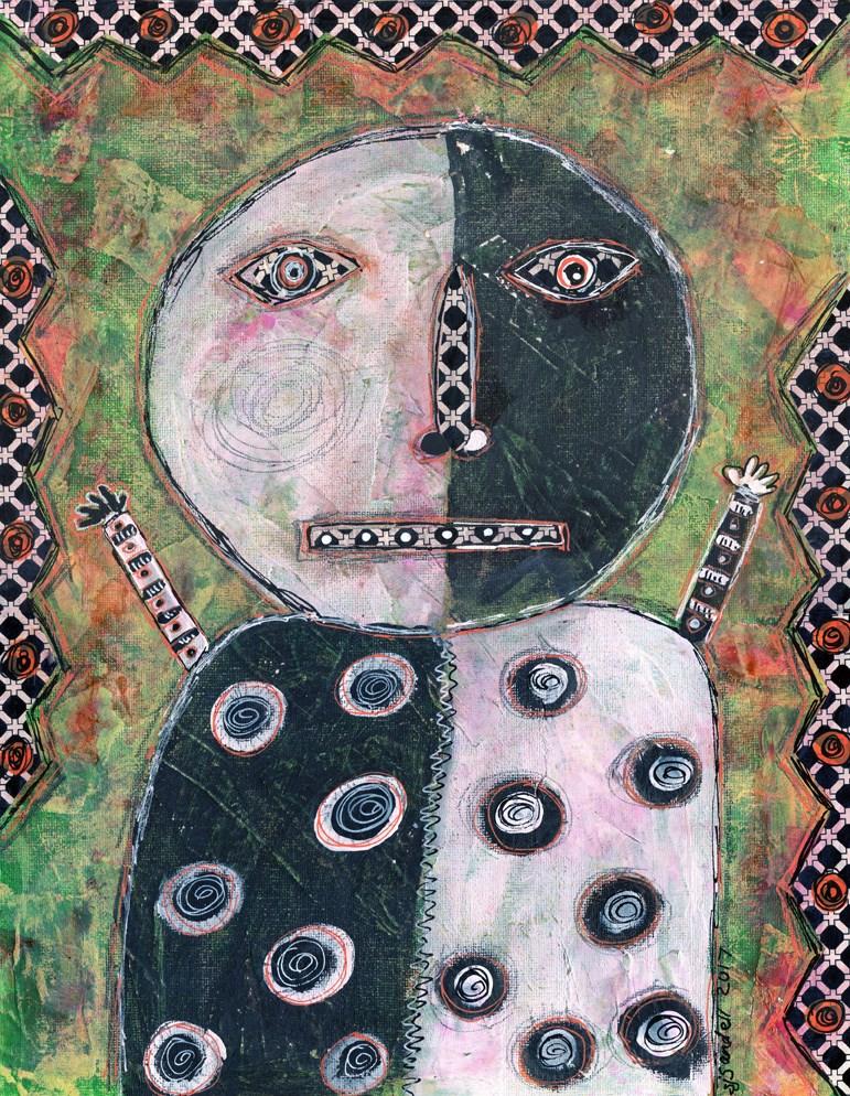 """Black And White"" original fine art by Sonja Sandell"