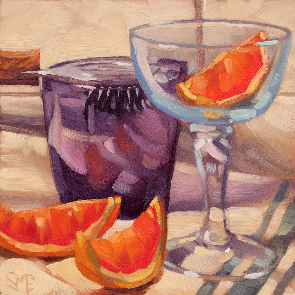 """""""Strainer, Grapefruit, Glass"""" original fine art by Sheila Evans"""