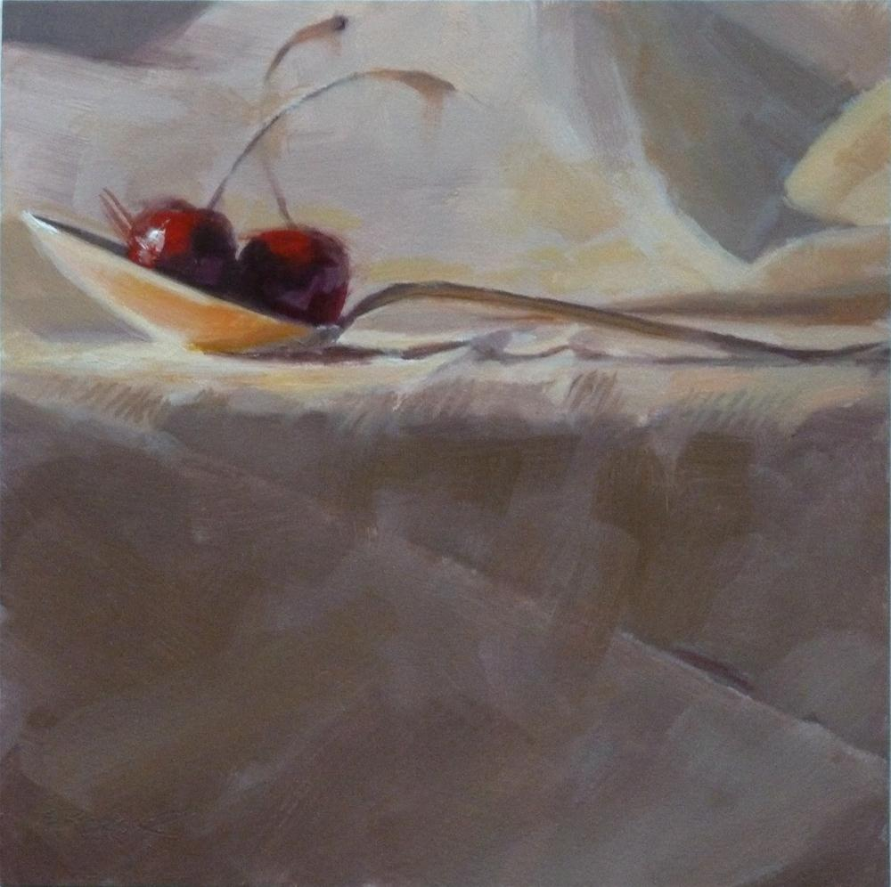 """A Spoonful of Cherries"" original fine art by Ron Ferkol"