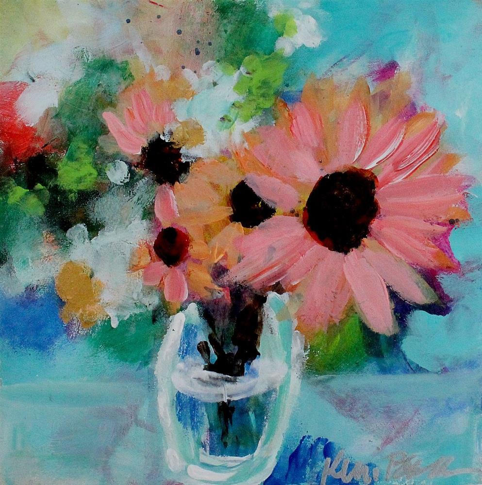 """Little Sunflower Bouquet"" original fine art by Kerri Blackman"