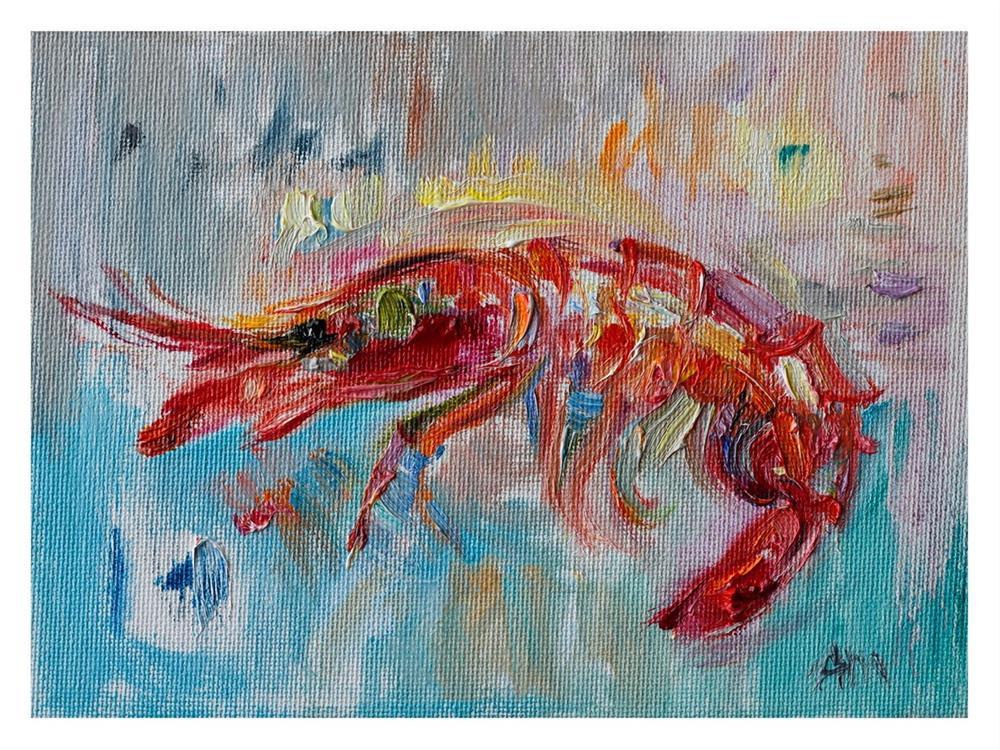 """""""Red Prawn """" original fine art by Anna  Fine Art"""