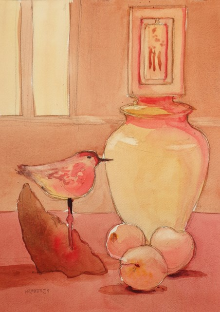 """Turnstone"" original fine art by Nancy Roberts"