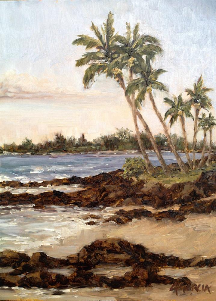 """Palms at Honl's"" original fine art by Jeannie Garcia"